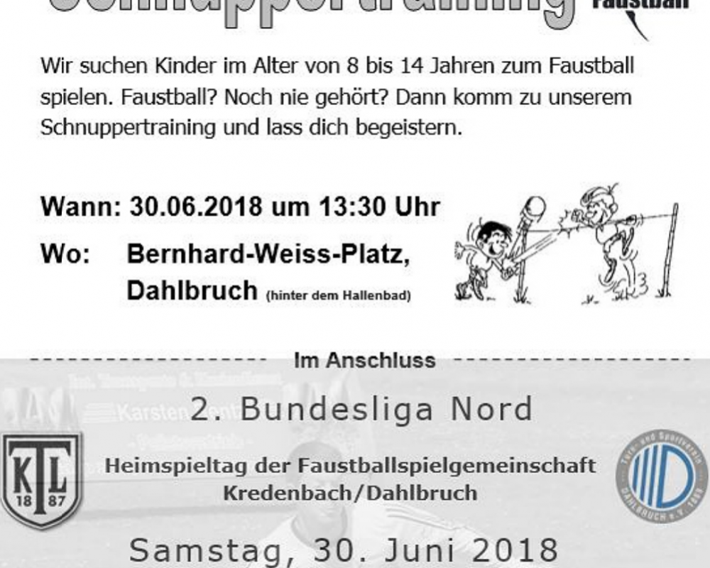Faustball Schnuppertraining